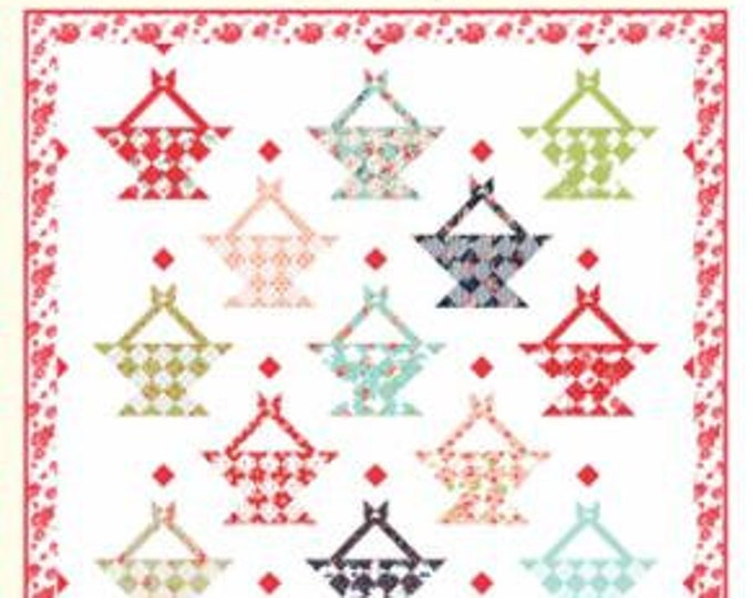 """Smitten Summer Love Pattern designed by Bonnie & Camille for Moda Fabrics, 84"""" x 84"""" when finished"""