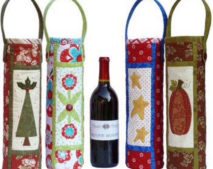 Cheers! Wine Bag, Four Wine Bag Designs...one for each Season of the Year