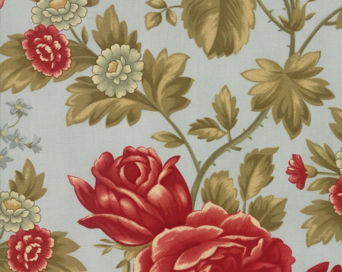 Featured listing image: Rosewood Frost Floral designed by 3 Sisters for Moda Fabrics, 100% Premium Cotton by the Yard