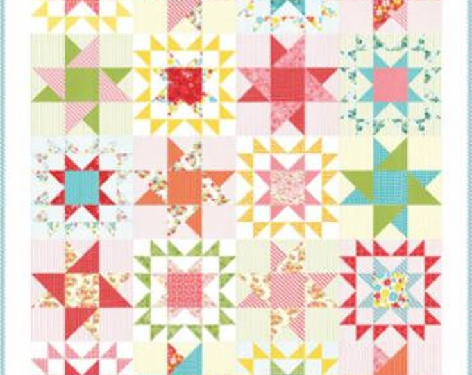 "Mama's Cottage Quilt Kit designed by April Rosenthal of Prairie Grass Patterns for Moda Fabrics, 55"" x 67"" finished size"