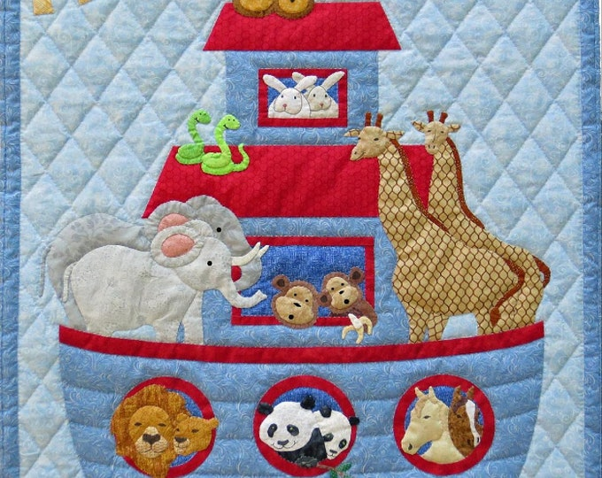 "Noah's Ark Quilt Pattern, 30"" x 40"", designed by Spring Creek NeedleArt"