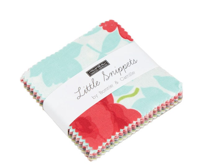 """Little Snippets Mini Charm Packs (42 - 2 1/2"""" x 2 1/2"""" Squares) designed by Bonnie & Camille for Moda Fabrics"""