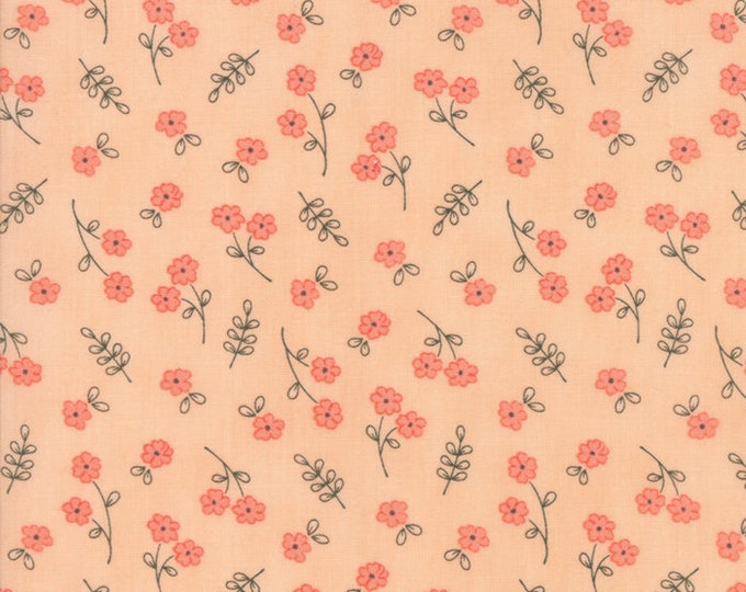 Le Pavot Small Blush designed by Sandy Gervais for Moda Fabrics, 100% Premium Cotton by the Yard