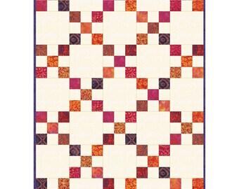 "Mango Tango Irish Chain Precut Quilt Kit designed by Maywood Studio, 30"" x 42"" when finished"