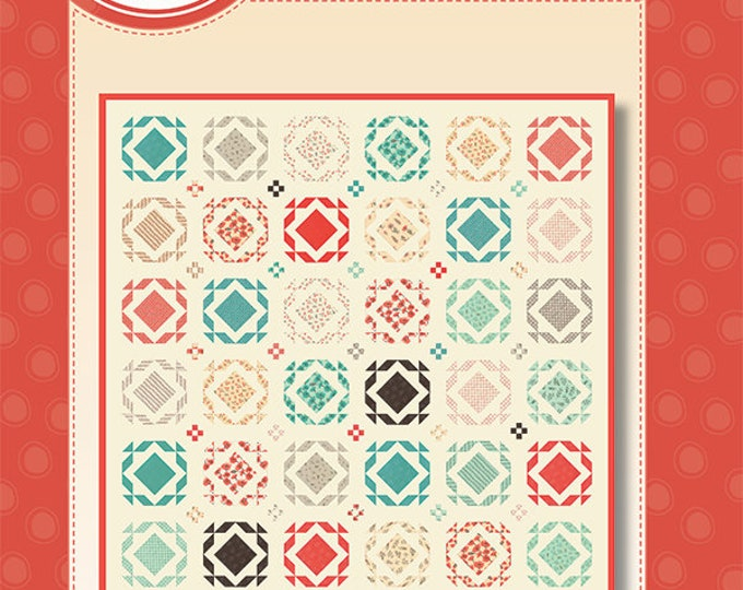 """Le Pavot Square Dance Quilt Kit designed by Sandy Gervais for Moda Fabrics, jelly roll and layer cake pattern, 93"""" x 93"""""""