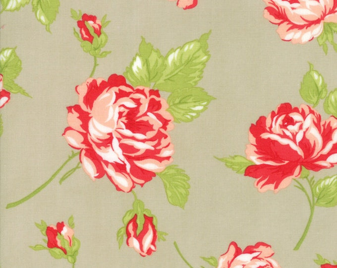 Smitten Linen Floral designed by Bonnie & Camille for Moda Fabrics, 100% Premium Cotton by the Yard