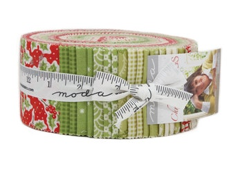 Christmas Figs Jelly Roll (42 - 2 1/2 x WOF Strips) designed by Fig Tree & Co. for Moda Fabrics