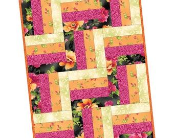 "Paradise 12 Block Rail Fence Precut Quilt Kit designed Debbie Beaves for Maywood Studio, 24"" x 32"" when finished"