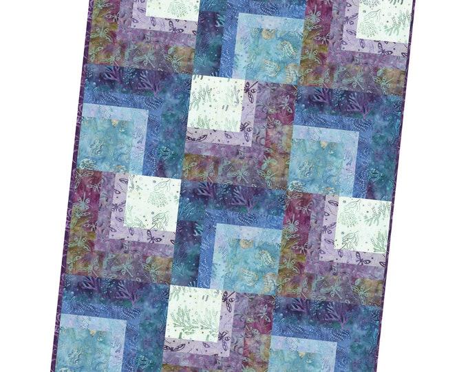 "Coastal Chic Batiks Precut Corner Cabin Quilt Kit, designed by Maywood Studio, 36"" x 48"", finished block size 12"""
