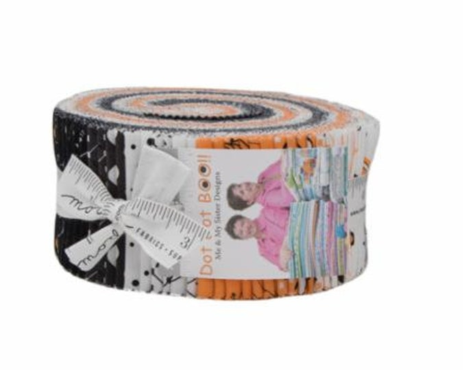 Dot Dot Boo Jelly Roll (42 - 2 1/2 x WOF Strips) designed by Me & My Sister Designs for Moda Fabrics