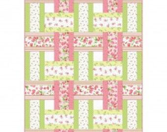 "Sweet Pea Flannel Quilt Kit designed by Rachel Shelburne for Maywood Studio, 48"" x 68"""