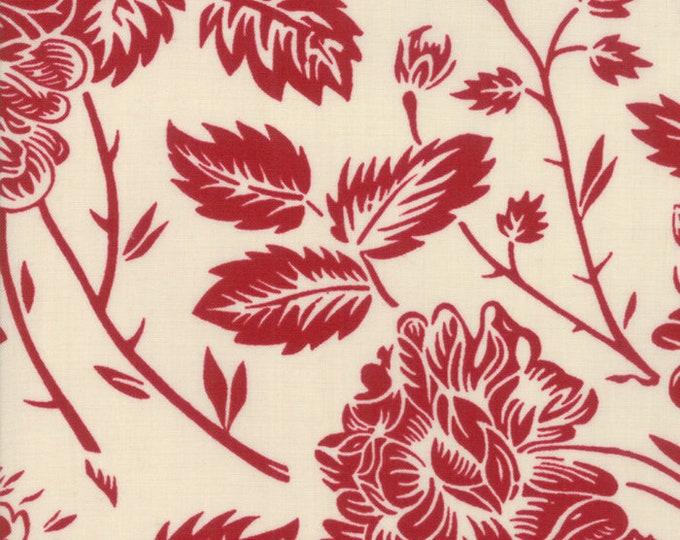La Vie en Rouge Pearl Rouge designed by French General for Moda Fabrics, 100% Premium Cotton by the Yard