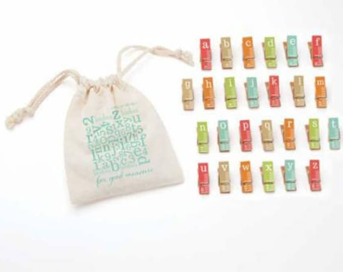 For Good Measure, 26 Mini Clothespins for binding and great Gifts!
