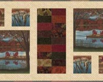 "Autumn Reflections Enchantment Charm Pack Quilt Kit, 47"" x 20"""