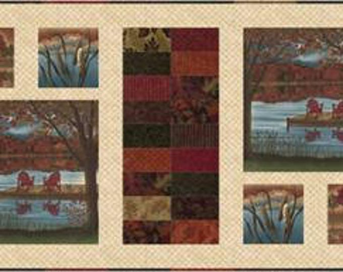"Autumn Reflections Enchantment Charm Pack Quilt Kit, 47"" x 20"""