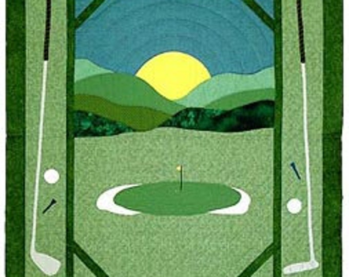 Golf Twin, Crib or Wall Quilt Pattern, designed by Spring Creek NeedleArt