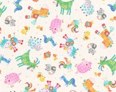 Oink, Moo, Cock-A-Doodle Doo Farm Animals by Blank Quilting Co., 100 Premium Cotton by the Yard