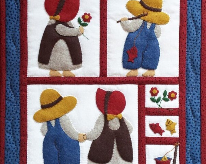 "Sue & Sam Wall Quilt Kit - 13"" x 15"""