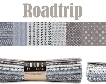 """Color Cuts Roadtrip 24 10"""" Squares by Moda Fabrics featuring Sweetwater, Lydia Nelson, Corey Yoder and Lella Boutique"""