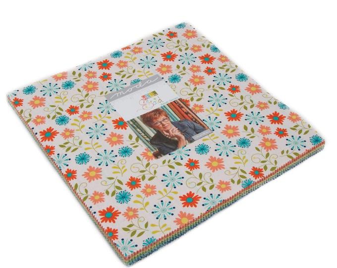 "Well Said Layer Cake (42 - 10"" x 10"" squares) designed by Sandy Gervais for Moda Fabrics, 100% Premium Cotton"