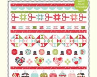 """Little Snippets Quilt Day Pattern designed by Cotton Way, 42"""" x 48"""""""