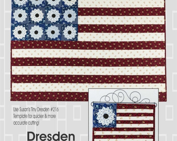 """Suzn Quilts...Dresden Flags... 10 1/4 x 12 1/2 & 30 1/4 x 42"""" when finished"""