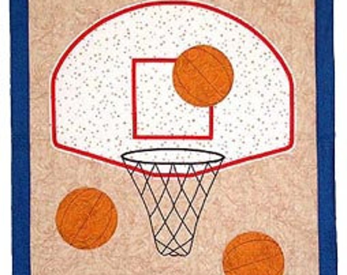 Basketball Twin, Crib or Wall Quilt Pattern, designed by Spring Creek NeedleArt
