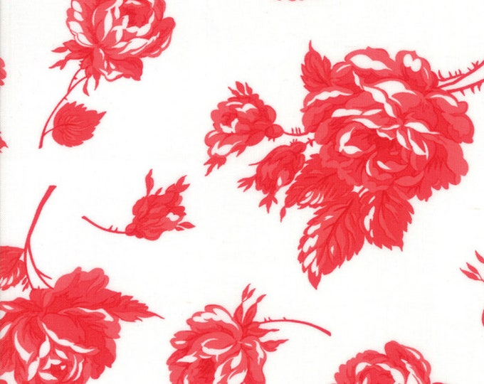 Smitten Cream Red designed by Bonnie & Camille for Moda Fabrics, 100% Premium Cotton by the Yard