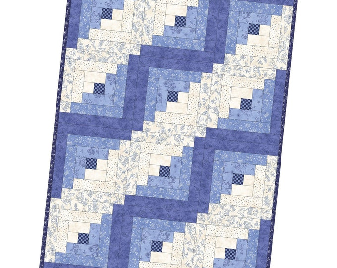 """Roly Poly Snowman Log Cabin Precut Quilt Kit, 29"""" x 39"""" designed by Robin Kingsley for Maywood Studio"""