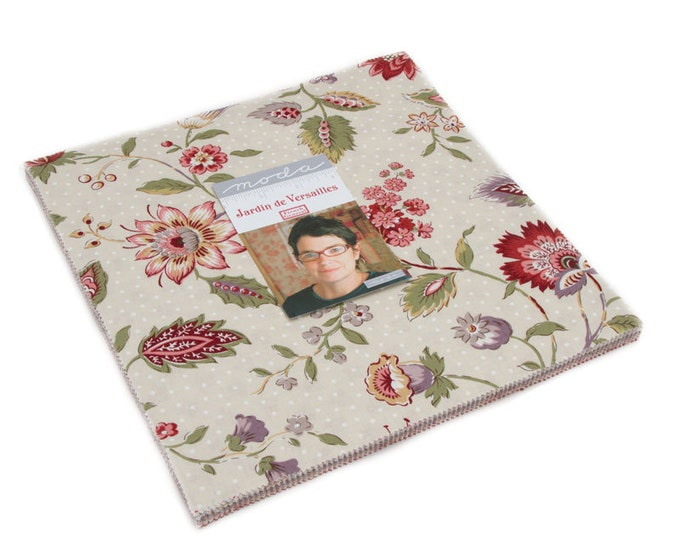 """Jardin de Versailles Layer Cake (42 - 10"""" x 10"""" squares) designed by French General for Moda Fabrics"""