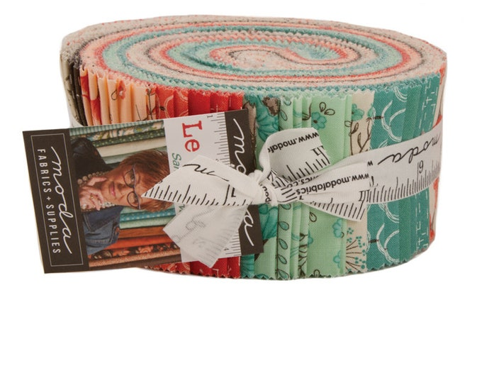 Le Pavot Jelly Roll (42 - 2 1/2 x WOF Strips) designed by Sandy Gervais for Moda Fabrics