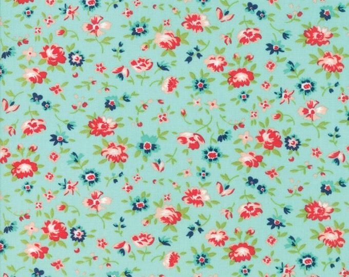 Smitten Aqua Florets designed by Bonnie & Camille for Moda Fabrics, 100% Premium Cotton by the Yard
