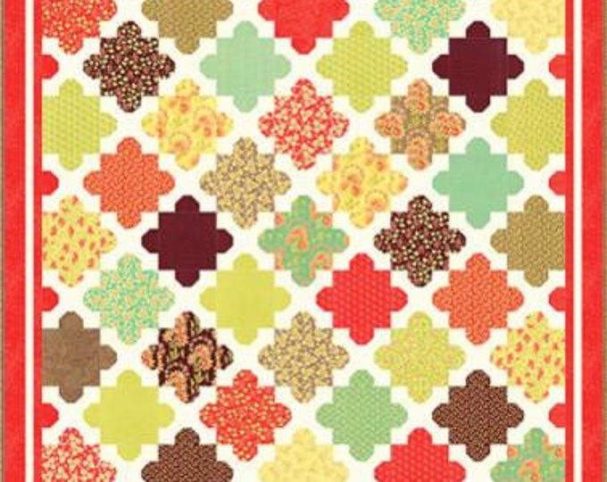 """Hazel & Blooms Charm and Layer Squares Pattern designed by Fig Tree and Co. for Moda Fabrics, 50"""" x 59"""", 76"""" x 90"""""""