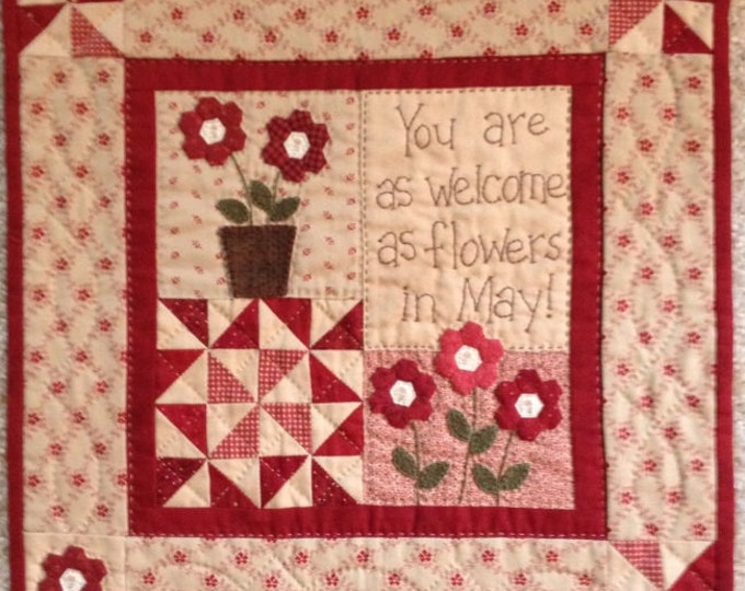 """Little Red Nine designed by Red Button Quilt Co., 14"""" x 14"""" when finished"""