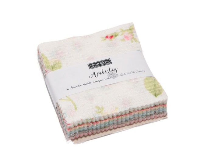 """Amberley Charms Squares(42 - 5"""" x 5"""" squares) designed by Brenda Riddle Designs for Moda Fabrics"""