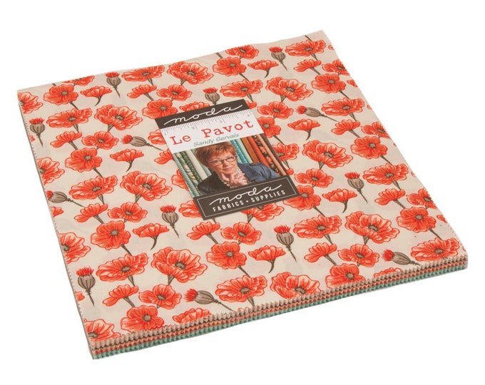 "Le Pavot Layer Cake (42 - 10"" x 10"" Squares) designed by Sandy Gervais for Moda Fabrics"