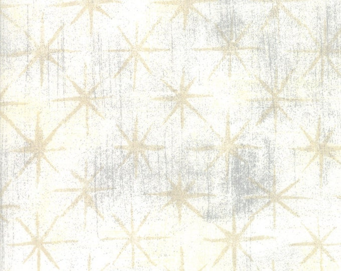 Grunge Seeing Stars Vanilla designed by BasicGrey for Moda Fabrics, 100% Premium Cotton by the Yard