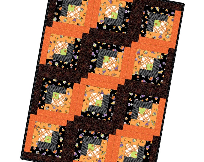 Broomhilda's Bakery Log Cabin 12 Block Precut Quilt Kit designed by Maywood Studioj