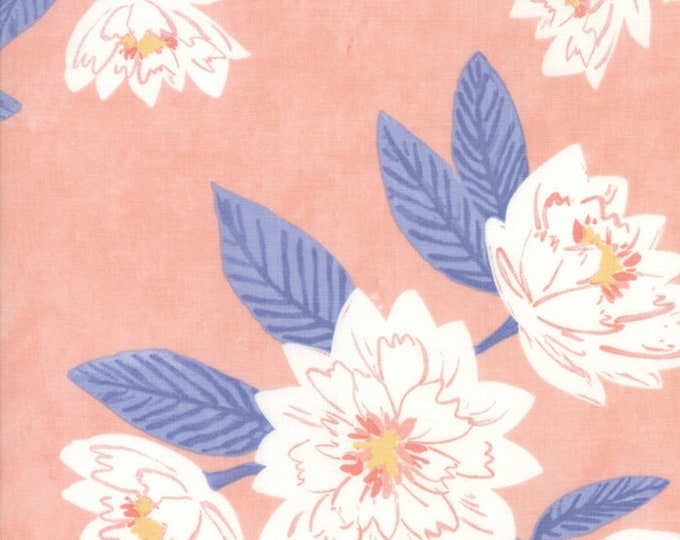 Twilight Floral Coral designed by One Canoe Two for Moda Fabrics, 100% Premium Cotton by the Yard