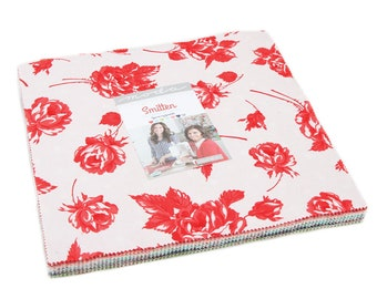 """Smitten Layer Cake (42 - 10"""" x 10"""" Squares) designed by Bonnie & Camille for Moda Fabrics"""