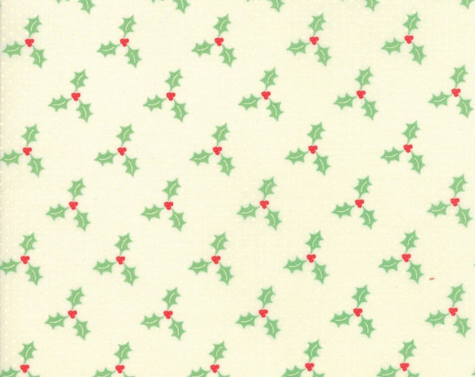 Swell Christmas Cream Poinsettias designed by Urban Chiks for Moda Fabrics, 100% Premium Cotton by the Yard