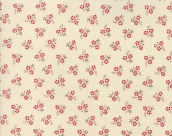 Jardin de Versailles Pearl Rouge designed by French General for Moda Fabrics, 100% Premium Cotton by the Yard
