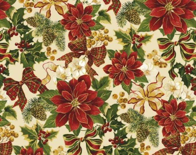 Christmas Tidings 7 Metallic Fat Quarter Bundle by Rosemarie Lavin for Windham Fabrics