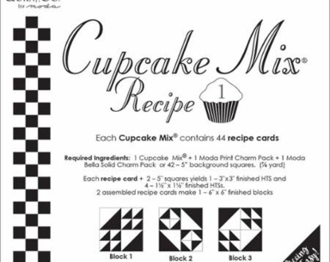 """Moda Cupcake Mix Recipe 1 for 5"""" Squares, designed by Miss Rosie's Quilt Co. for Moda Fabrics"""