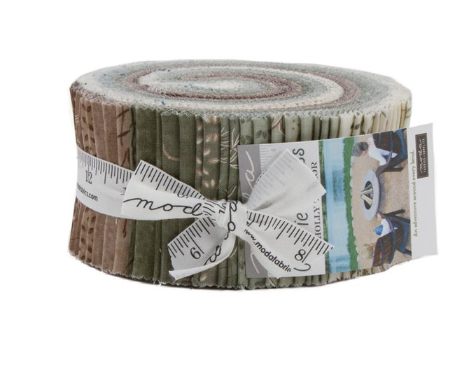 Prairie Grass Jelly Roll (42 - 2 1/2 x WOF Strips) designed by Holly Taylor for Moda Fabrics