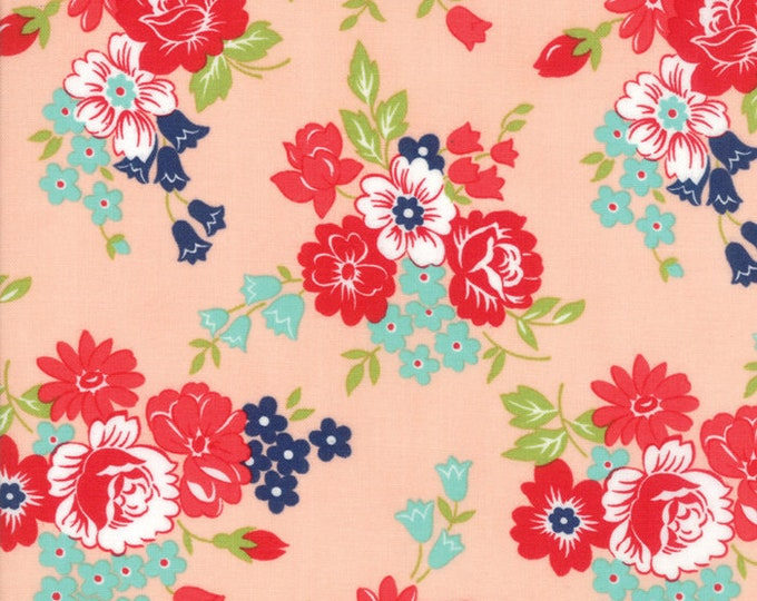 Smitten Blush Floral designed by Bonnie & Camille for Moda Fabrics, 100% Premium Cotton by the Yard