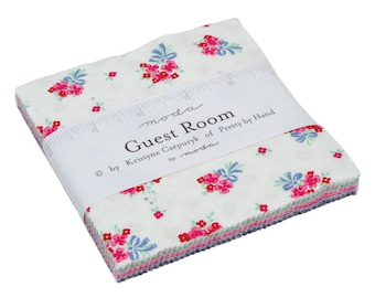 """Guest Room Charm Packs (42 - 5"""" x 5"""" Squares) designed by Kristine Czepuryk of Pretty by Hand"""