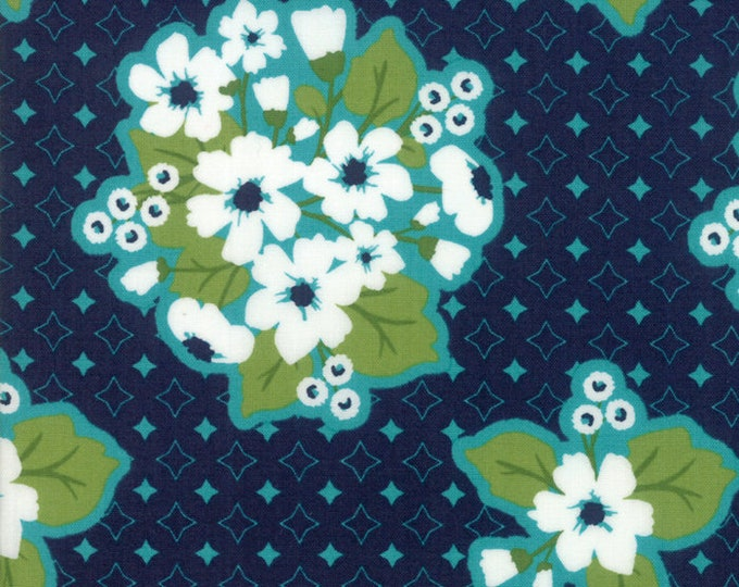 All Weather Friend Midnight designed by April Rosenthal of Prairie Grass Patterns for Moda Fabrics, 100% Premium Cotton by the Yard