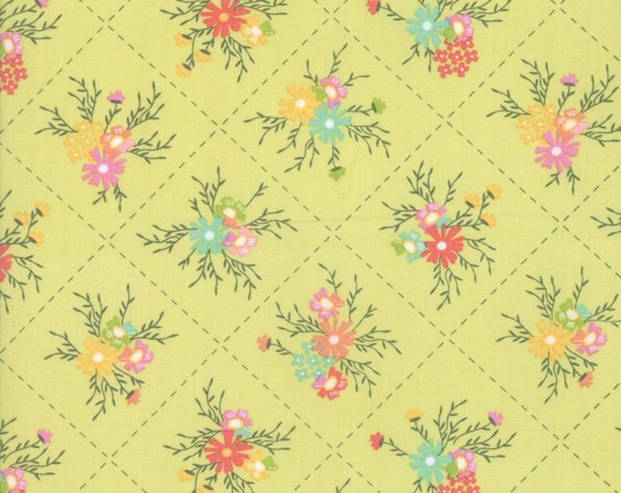 Sunnyside Up Cucumber Squares designed by Corey Yoder for Moda Fabrics, 100% Premium Cotton by the Yard