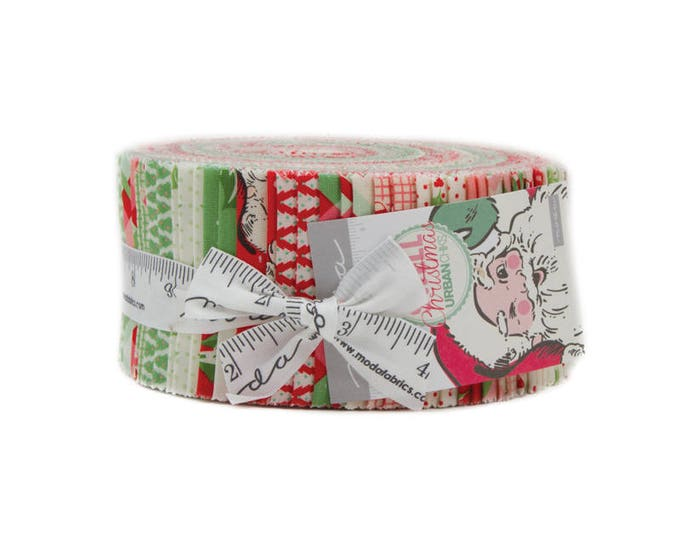 Swell Christmas Jelly Roll (42 - 2 1/2 x WOF strips) designed by Urban Chiks for Moda Fabrics, 100% Premium Cotton